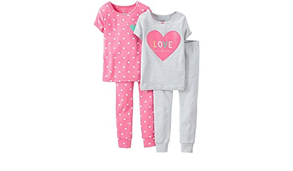 21b242393 Amazon.com   Carter s 4 Piece Print PJ Set (Baby) - Love to Dream-12 ...