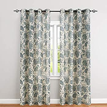 Amazon Com Vintage Linen Curtains For Living Room With