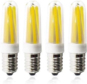 HANCLLED 3W Filamento Bombilla LED E14 Blanco Cálido Pequeña Edison Tornillo Decorativas Lámpara Bombillas LED Ahorro de Energía Bombilla de la Luz [Paquete de 4] [Blanco Cálido]: Amazon.es: Iluminación