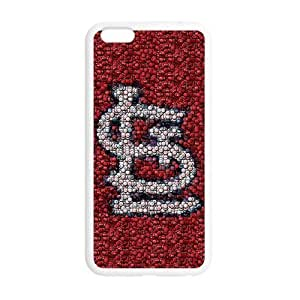 Cap mosaic red St. Louis Cardinals Custom Case for iPhone6 4.7 (Laser Technology)Kimberly Kurzendoerfer