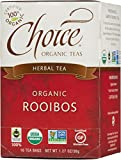 Choice Organic Teas Caffeine Free Herbal Tea, Rooibos, 16 Count, Pack of 6