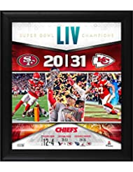 "Kansas City Chiefs Framed 15"" x 17"" Super Bowl LIV Champions Team Collage - NFL Team Plaques and Collages"