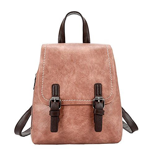 School Brown Backpack Leather Bags Domybest Bag Women Small Rucksack Girls Travel PU Shoulder aAppUwq0