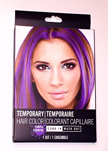 Passion Purple Temporary Hair Color 1 Kit Comb In Wash Out 1 Color Pack 0.5 oz 1 Comb by Passion Purple Temporary Hair Color