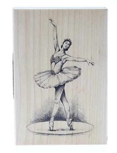 EK Success Inkadinkado Wood Stamp, Ballerina