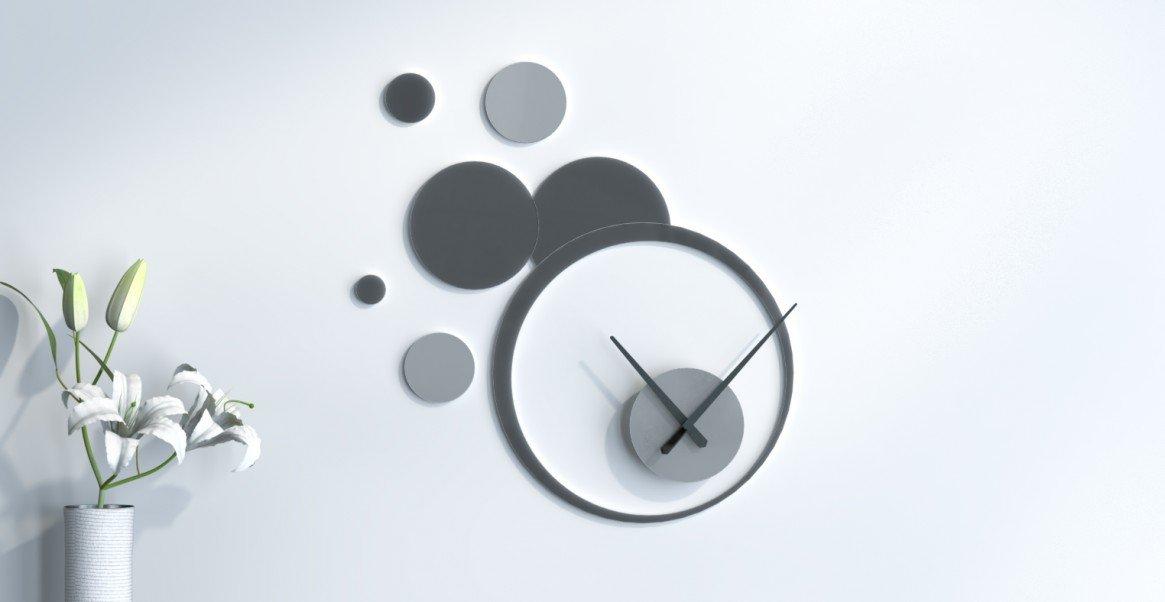 Pendel Desktop-Design Rosa - Grau Silber und Dunkelgrau Gris Foncé - Gris Argent