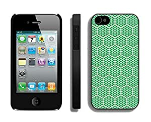 Slim Apple Iphone 4s Case Durable Soft Silicone TPU Green Honeycomb Diy Black Phone Cover Mobile Accessories for Iphone 4