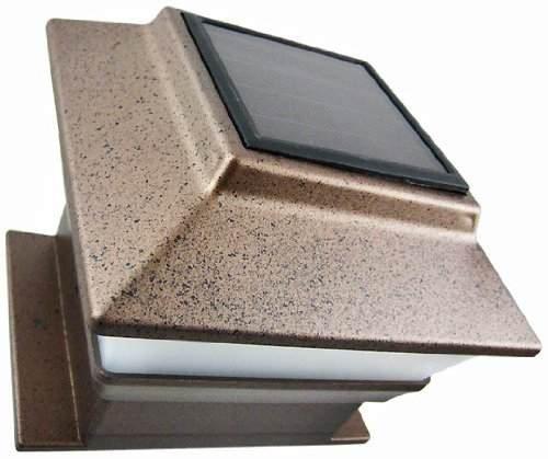 Set of 4 Bronze Finish 4 x 4 Deck & Post Cap Solar Light