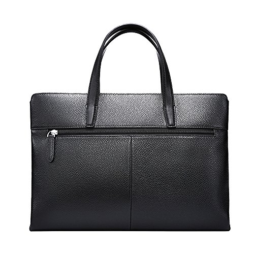 Vintage Briefcase Men's Casual Bag Casual Tote Satchel Leather Notebook For Laptop Bag Business Qi Suitable Business 65fn8d5q