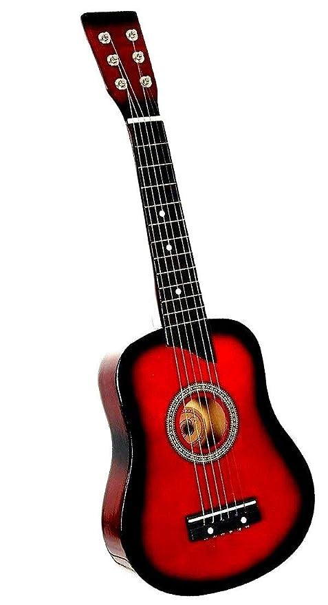 Guitarra acústica para niños 6 cuerdas 59 cm ligera ideal para ...