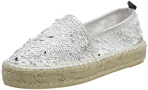 Espadrilles Sole Sequins White california of in Weiß Colors Double Femme qH4YSBU