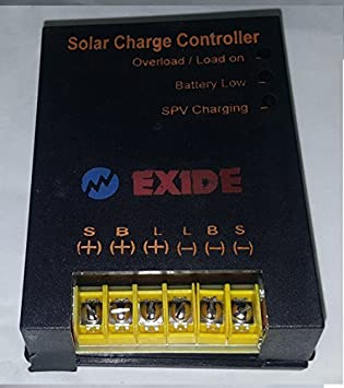Exide PWM 12/24V 10A Solar Charge Controller
