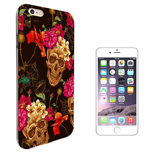 "002964 - Skull Head Flower Headband Walking Dead Design iphone 7 4.7"" Fashion Trend Silikon Hülle Schutzhülle Schutzcase Gel Rubber Silicone Hülle"