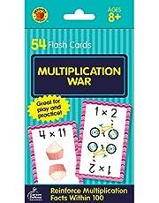 Multiplication War Flash Cards: 54 Flash Cards
