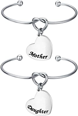 Mother Daugther Bracelets Set of 2 Matching Knot Bracelets for Mummy and Me