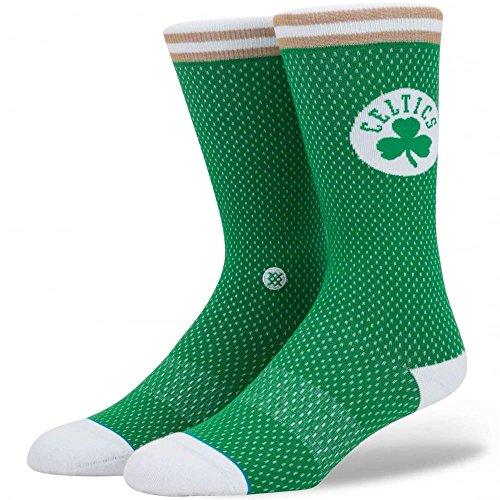 Stance M545D17CEL Men's Celtics Jersey Sock, Green - Medium (6-8.5) (White Boston Celtics Socks)