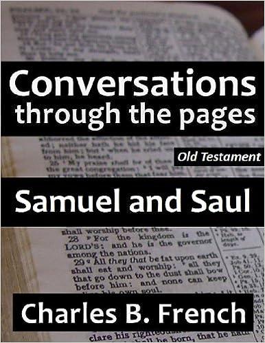 Ebook gratis download epub torrent Samuel and Saul (Conversations Through the Pages - Old Testament) PDF B0077XL1KQ