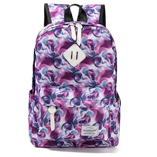 6 colores de impresión Flamingo Mochila Mochila escolar de lona para mujeres adolescentes mochila de viaje caricatura femenina mochilas 73D