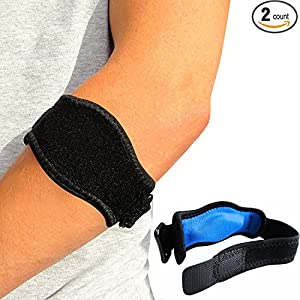 Eulay Tennis Elbow Brace (2-Pack) with Compression Pad,Best Tennis & Golfer's Elbow Strap Band-Arm Support For Women & Men