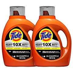 Tide 10X Heavy Duty liquid laundry detergent is specially designed for impossible stains. It's the #1 stain remover for working professionals with heavy duty laundry problems, liked caked on dirt, tough odors, and set in stains on work clothe...