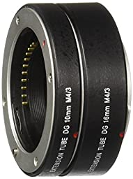 Neewer Automatic Macro Extension Tube DG 10MM+16MM FT1 for Micro Four Thirds M4/3 Camera, fits Olympus PEN E-P1 P2 P3 P5 E-PL1 PL1s PL2 PL3 PL5 PL6 E-PM1 PM2 OM-D E-M5 E-M1 Panasonic Lumix DMC-GH1 GH2 GH3 GX7 G1 G2 G10 G3 G5 G6 GF1 GF2 GF3 GF5 GF6 GX1 GM