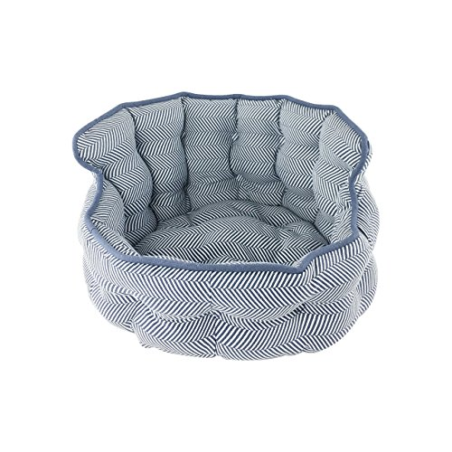 Precious Tails WE1810HBNVY Round Mini Tufted Pet Bed Sofa...