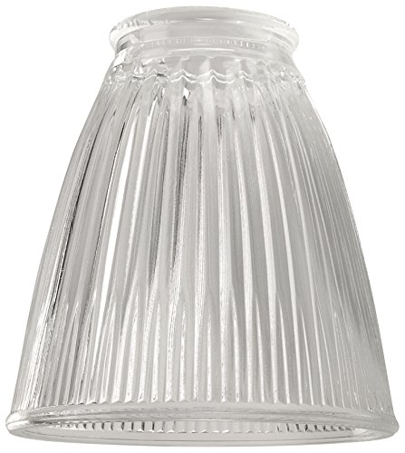 - Ellington 757C Ribbed Cone Shaped Glass Ceiling Fan Shade, Clear