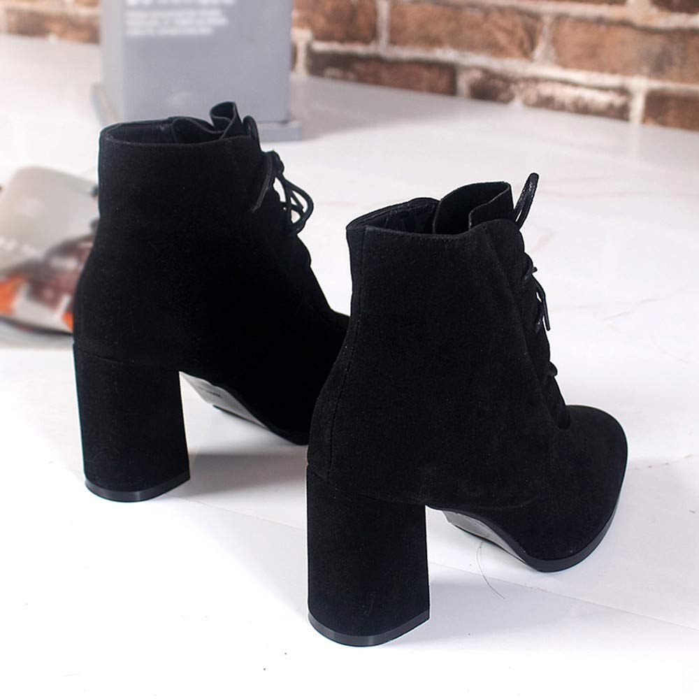 bc58b20fb67 Clearance Sale! Caopixx Boots for Women Casual Shoes High Heeled Zipper  Boots Ankle Martin Booties