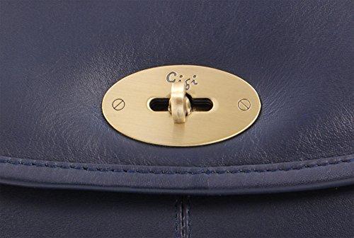 Bolso GIGI Azul solapa Oscuro Cuero con OTHELLO 8775 FExwqrEv