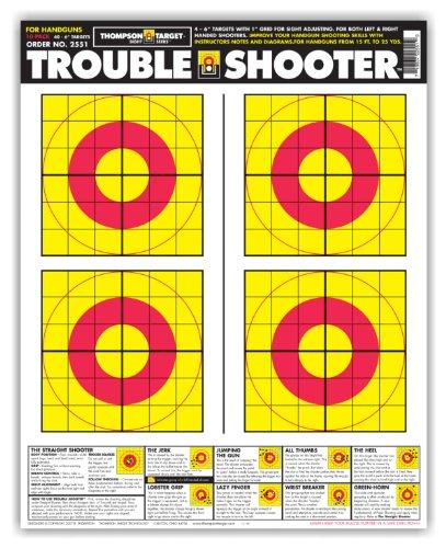 Trouble Shooter Handgun - Paper Gun Range Shooting Targets 19x25 Inch (25 Pack)