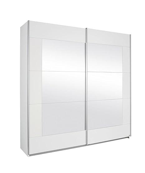 Rauch Humo Color Blanco con Espejo de 2 Puertas de Armario de ...