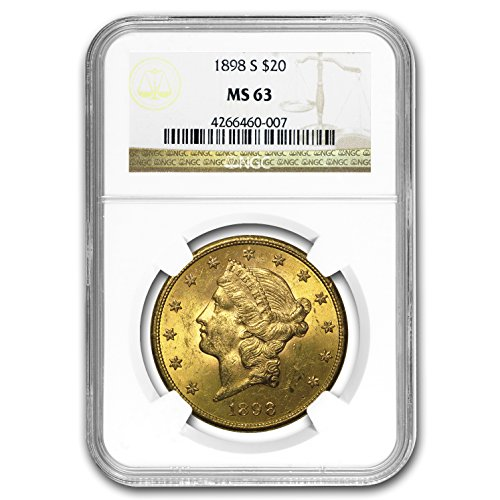 (1898 S $20 Liberty Gold Double Eagle MS-63 NGC G$20 MS-63)