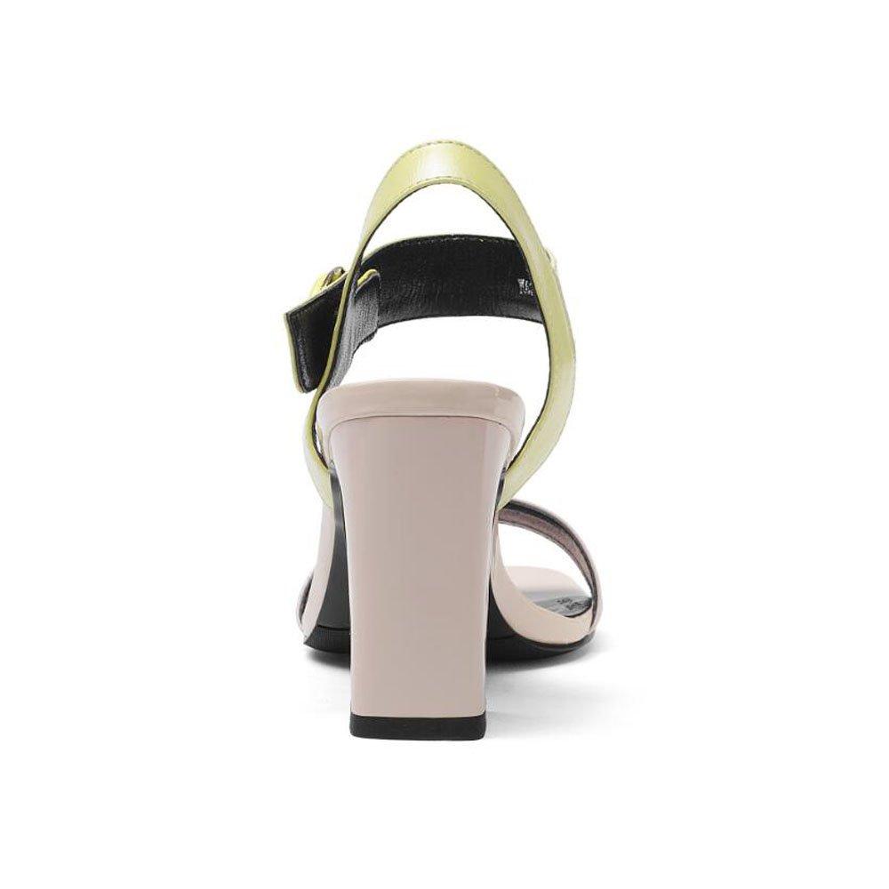 Sandali, Tacchi a Spillo, Punta Aperta, Fibbia, Tacchi Alti, Moda, Moda, Moda, Scarpe da Donna in Pelle Colore : Pink, Dimensioni : 37) - 3396c3