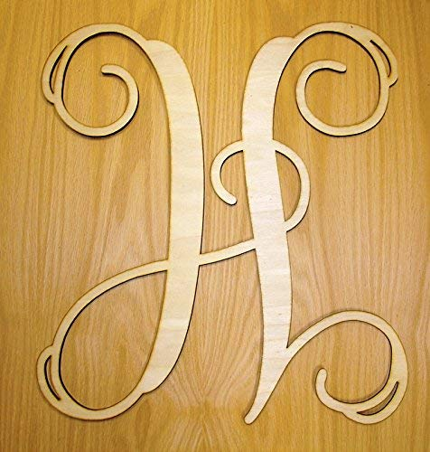 Monogram Door Hanger Wall Hanger Wreath Single Letter Wood Sign Wall Decor Garden Signs and Plaques