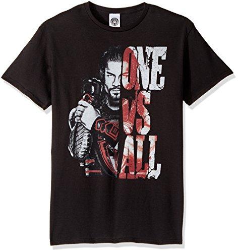 WWE Men's Roman Reigns One Vs All T-Shirt, Black, (Roman Tee T-shirt)