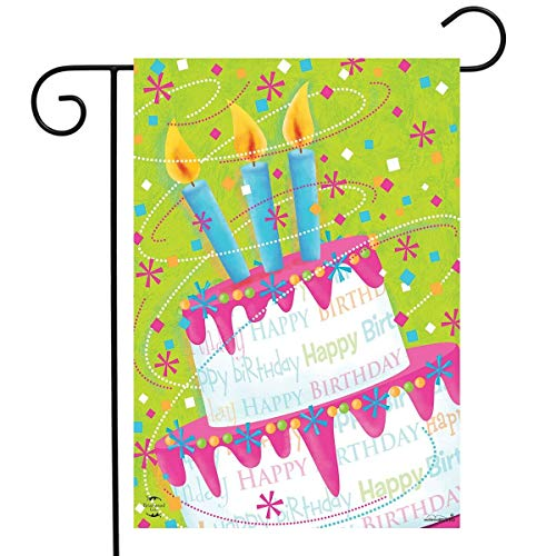 Happy Birthday Garden Flag - Briarwood Lane Birthday Cake Celebration Garden Flag Happy Birthday 12.5