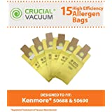 Crucial Vacuum Allergen Filtration Vacuum Cleaner Bags for Kenmore 50688, 50690 (18-Pieces)