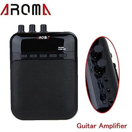 PyLios(TM)Mini Electric Guitar Amp 5V 3W Portable Guitarra Amplificador Audio MP3 Player