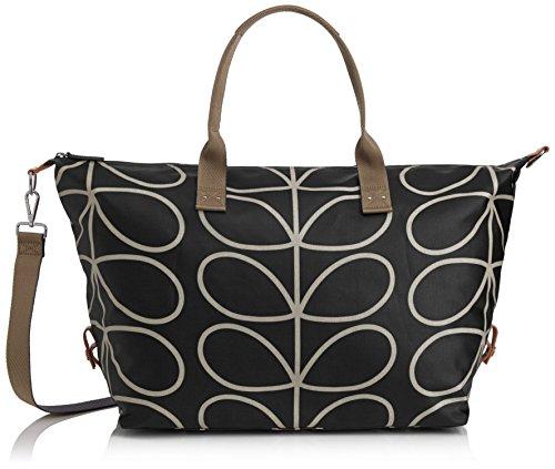 Etc Giant Linear Stem Zip Holdall Top Handle Bag, Black+C...