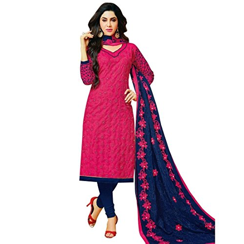 Ready-To-Wear-Elegant-Cotton-Embroidered-Salwar-Kameez-Suit-India