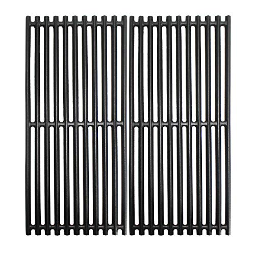 Grill Valueparts Grates for Charbroil 463241013, 463241014, 463243812, 466241013, 466241014, 463270612, G526-0007-W1, 463270614, Tru-Infrared 2 Burner Grills - Matte Enamel Cast Iron 18 1/4 x 16 1/2