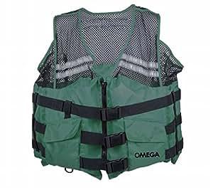Flowt mesh fishing adult life vest type iii for Fishing vest amazon