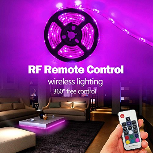 Battery powered led strip lights geekeep waterproof rgb led strip battery powered led strip lights geekeep waterproof rgb led strip rope lights with remoteusb cord and bonus roll adhesive tape 2m656ft aloadofball Gallery