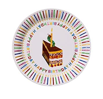 the very hungry caterpillar party paper plates 8 pk amazon co uk