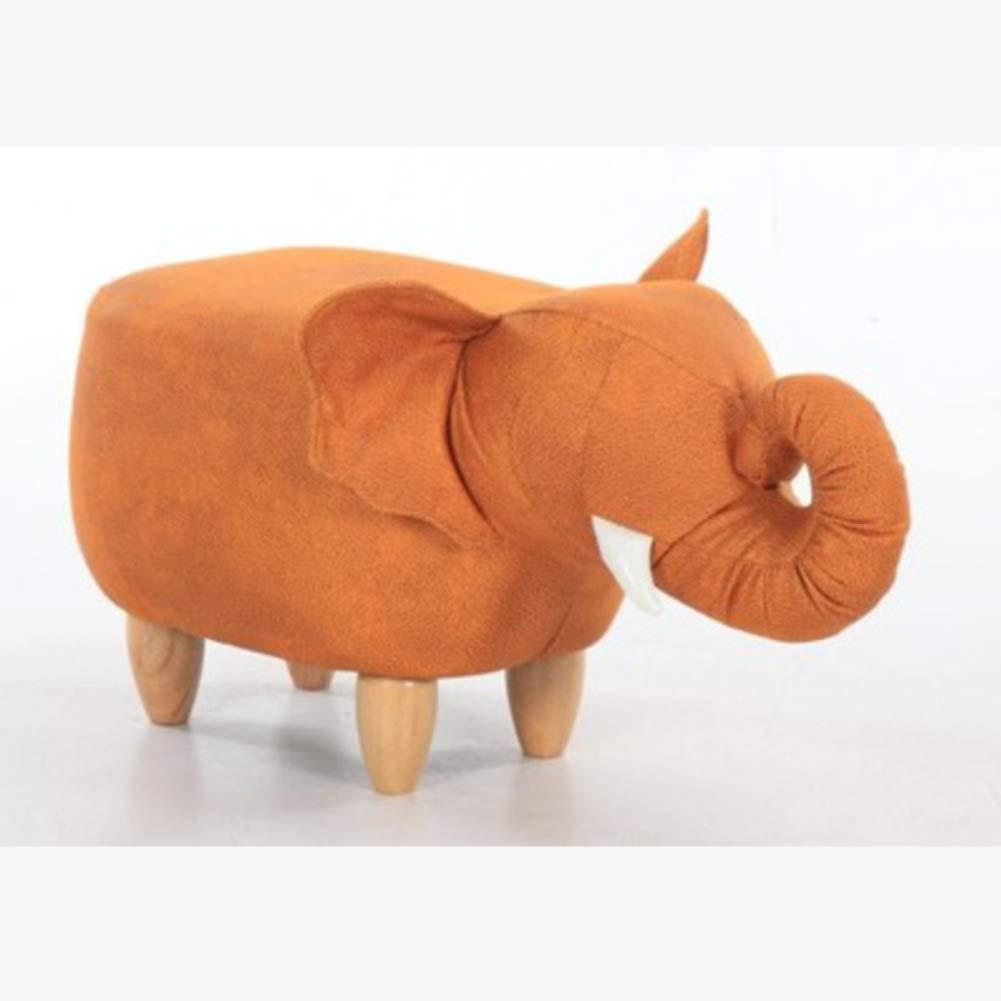 RYFTS Pelle Animale Poggiapiedi, Creativo Carino Poggiapiedi Ottomano Legno massello Sgabello per Bambini con Gambe Legno-A 70x34x35cm(28x13x14inch)