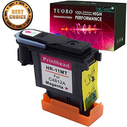 Tuobo Remanufactured Printhead Replacement for 11 Printhead Magenta C4812A Fit for HP Designjet 70 90 100 110 500 510 500ps 800ps 9110 K850 ()
