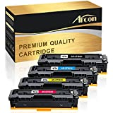 Arcon 4 Packs Compatible for HP 202A CF500A Toner Cartridge for HP Color LaserJet Pro MFP M254dw M254dn M254nw M281fdw M281fdn M281cdw M280nw M254 M281 M280 254dw 281fdw 281cdw 202X CF500X Printer Ink
