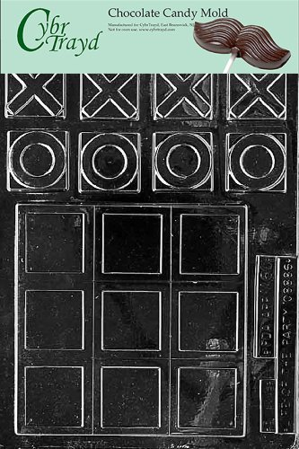 (Cybrtrayd M060 Tic Tac Toe Miscellaneous Chocolate Candy Mold)