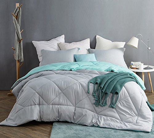 Byourbed Glacier Gray/Yucca King Comforter - Oversized King XL Bedding by Byourbed