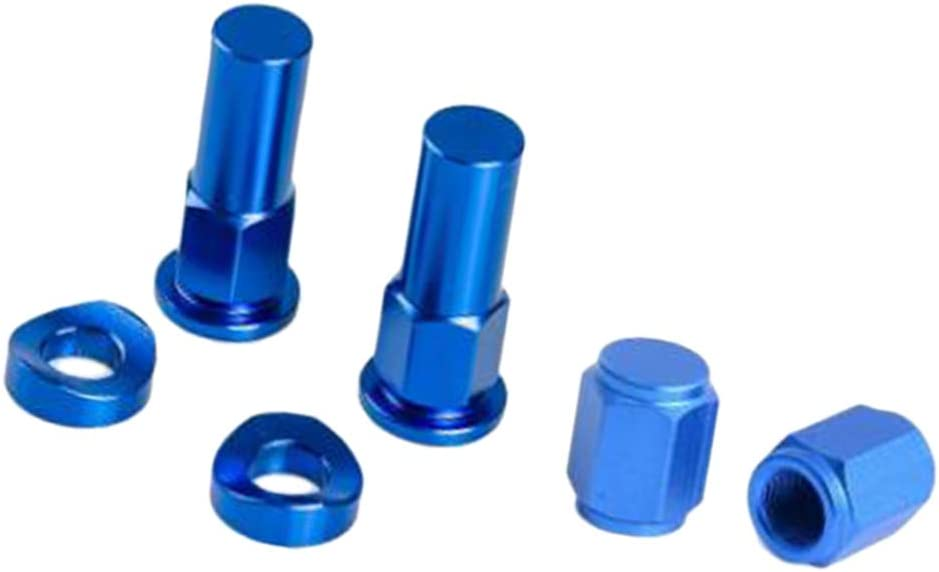 Blue CNC Valve Cap Rim Lock Nut Cover Washer Security Bolt for Motorcycle